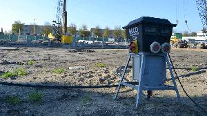 een verdeelkast 125A op een bouwplaats