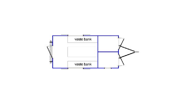 Schaftwagen snelverkeer met schaftruimte, opslagruimte en optionele ruimte voor sanitair