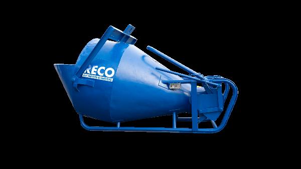 Betonkubel 1500 liter met onderlossing en lekklep