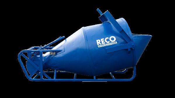 Betonkubel 2000 liter met onderlossing en lekklep