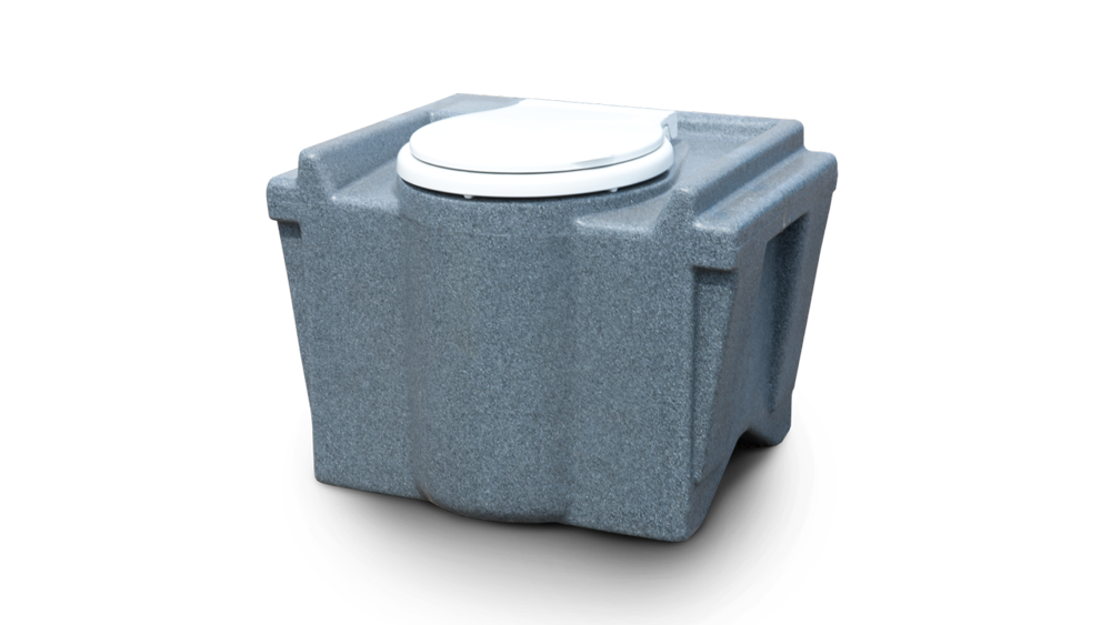 Portable chemisch toilet voor in een schaftwagen of ander tijdelijk toilethuis