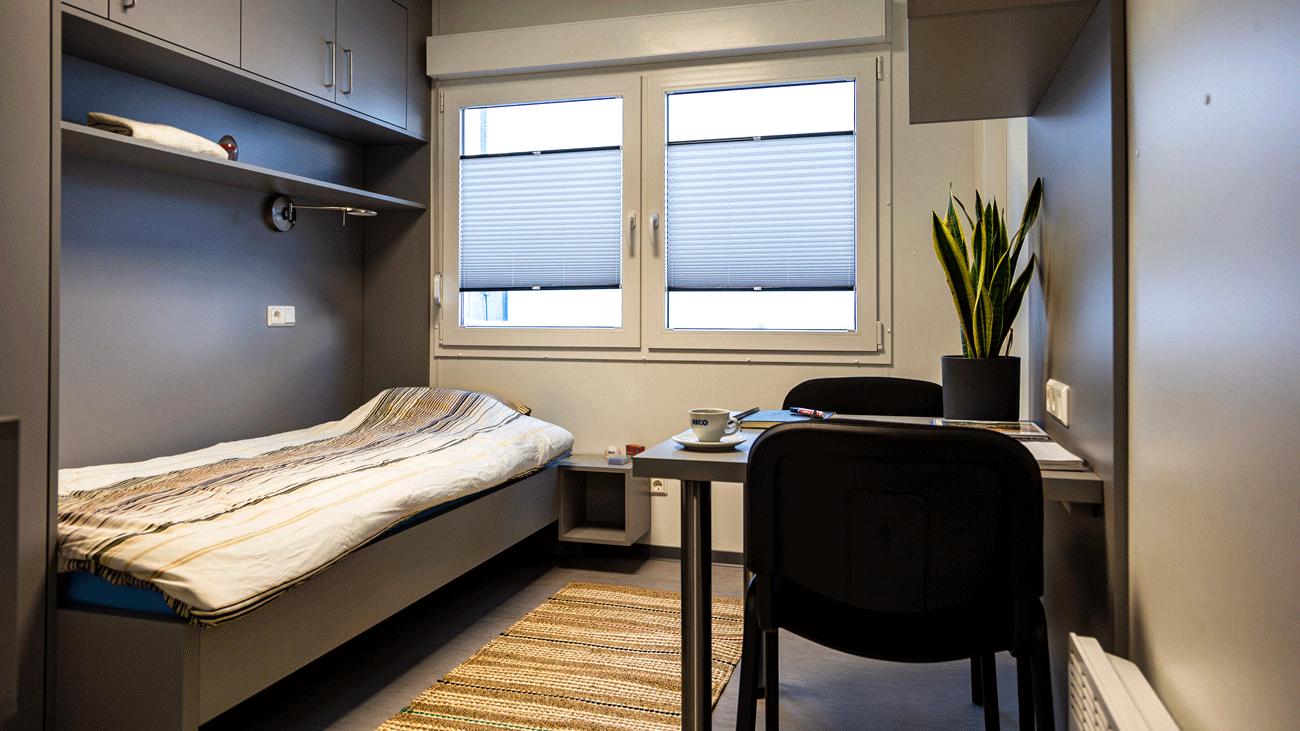 Kant-en-klare woonunit van 18m2 met slaapkamer, badkamer en keuken