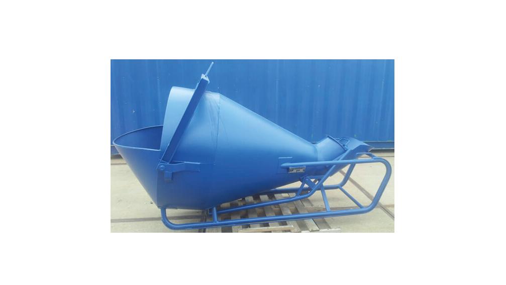 Betonkubel 1000 liter met zijlossing
